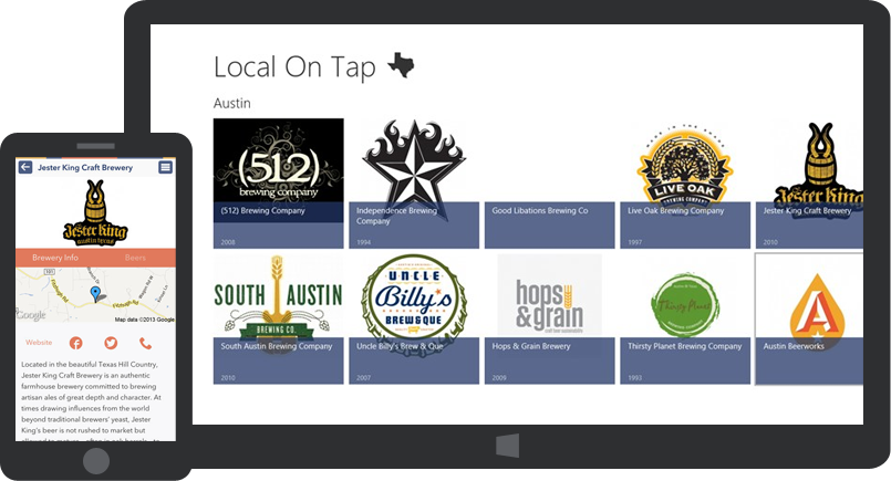 Screenshots for Local on Tap on iPhone and Windows 8