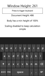 Windows Phone 8 IE 10 with Keyboard Up